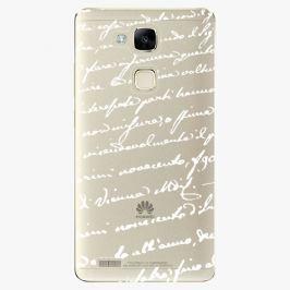 Plastový kryt iSaprio - Handwiting 01 - white - Huawei Mate7