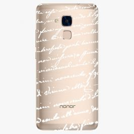 Plastový kryt iSaprio - Handwiting 01 - white - Huawei Honor 7 Lite
