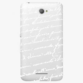 Plastový kryt iSaprio - Handwiting 01 - white - Sony Xperia E4