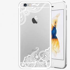 Plastový kryt iSaprio - White Lace 02 - iPhone 6 Plus/6S Plus - Silver