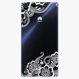 Plastový kryt iSaprio - White Lace 02 - Huawei Ascend P7