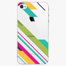 Plastový kryt iSaprio - Color Stripes 03 - iPhone 4/4S