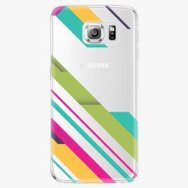 Plastový kryt iSaprio - Color Stripes 03 - Samsung Galaxy S6 Edge