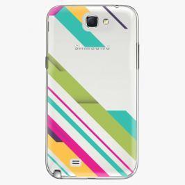 Plastový kryt iSaprio - Color Stripes 03 - Samsung Galaxy Note 2