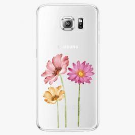 Plastový kryt iSaprio - Three Flowers - Samsung Galaxy S6 Edge