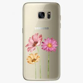 Plastový kryt iSaprio - Three Flowers - Samsung Galaxy S7 Edge