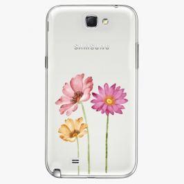 Plastový kryt iSaprio - Three Flowers - Samsung Galaxy Note 2