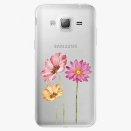 Plastový kryt iSaprio - Three Flowers - Samsung Galaxy J3 2016