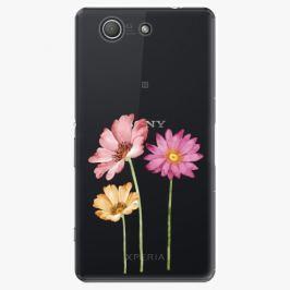 Plastový kryt iSaprio - Three Flowers - Sony Xperia Z3 Compact