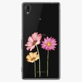 Plastový kryt iSaprio - Three Flowers - Sony Xperia M4