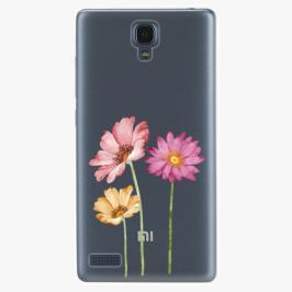 Plastový kryt iSaprio - Three Flowers - Xiaomi Redmi Note