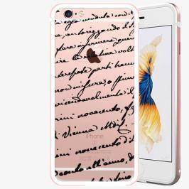 Plastový kryt iSaprio - Handwiting 01 - black - iPhone 6/6S - Rose Gold
