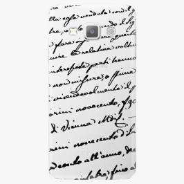 Plastový kryt iSaprio - Handwiting 01 - black - Samsung Galaxy A3