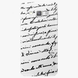 Plastový kryt iSaprio - Handwiting 01 - black - Samsung Galaxy A7