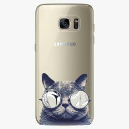 Plastový kryt iSaprio - Crazy Cat 01 - Samsung Galaxy S7 Edge