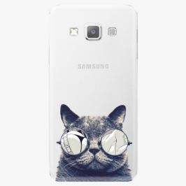 Plastový kryt iSaprio - Crazy Cat 01 - Samsung Galaxy A3