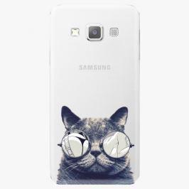 Plastový kryt iSaprio - Crazy Cat 01 - Samsung Galaxy A7 Pouzdra, kryty a obaly na mobil Samsung Galaxy A7