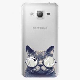Plastový kryt iSaprio - Crazy Cat 01 - Samsung Galaxy J3 2016
