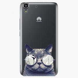 Plastový kryt iSaprio - Crazy Cat 01 - Huawei Ascend Y6