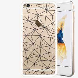 Plastový kryt iSaprio - Abstract Triangles 03 - black - iPhone 6/6S - Gold