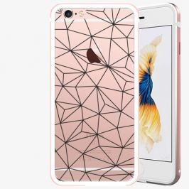 Plastový kryt iSaprio - Abstract Triangles 03 - black - iPhone 6 Plus/6S Plus - Rose Gold