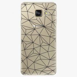 Plastový kryt iSaprio - Abstract Triangles 03 - black - Samsung Galaxy A3 2016
