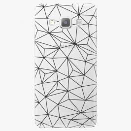 Plastový kryt iSaprio - Abstract Triangles 03 - black - Samsung Galaxy A7