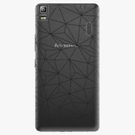 Plastový kryt iSaprio - Abstract Triangles 03 - black - Lenovo A7000