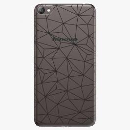 Plastový kryt iSaprio - Abstract Triangles 03 - black - Lenovo S60