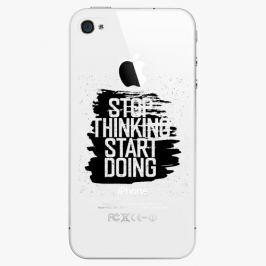 Plastový kryt iSaprio - Start Doing - black - iPhone 4/4S
