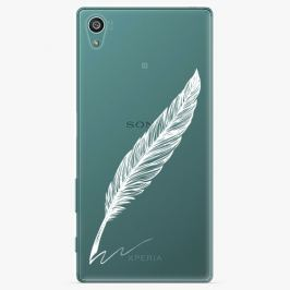 Plastový kryt iSaprio - Writing By Feather - white - Sony Xperia Z5