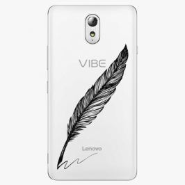Plastový kryt iSaprio - Writing By Feather - black - Lenovo P1m
