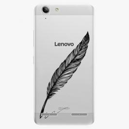 Plastový kryt iSaprio - Writing By Feather - black - Lenovo Vibe K5