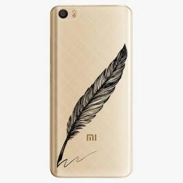 Plastový kryt iSaprio - Writing By Feather - black - Xiaomi Mi5