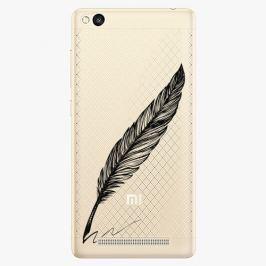 Plastový kryt iSaprio - Writing By Feather - black - Xiaomi Redmi 3