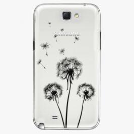 Plastový kryt iSaprio - Three Dandelions - black - Samsung Galaxy Note 2