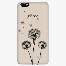 Plastový kryt iSaprio - Three Dandelions - black - Huawei Honor 4C