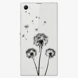 Plastový kryt iSaprio - Three Dandelions - black - Sony Xperia Z1
