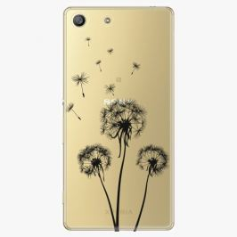 Plastový kryt iSaprio - Three Dandelions - black - Sony Xperia M5