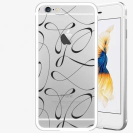 Plastový kryt iSaprio - Fancy - black - iPhone 6/6S - Silver