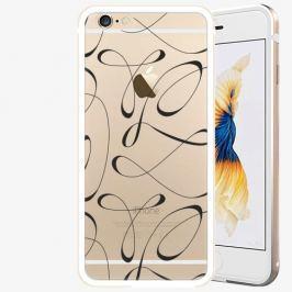 Plastový kryt iSaprio - Fancy - black - iPhone 6 Plus/6S Plus - Gold