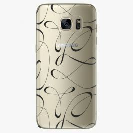 Plastový kryt iSaprio - Fancy - black - Samsung Galaxy S7 Edge