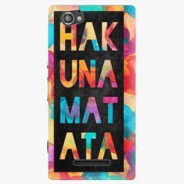 Plastový kryt iSaprio - Hakuna Matata 01 - Sony Xperia M