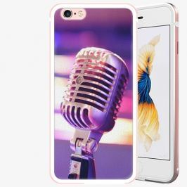 Plastový kryt iSaprio - Vintage Microphone - iPhone 6 Plus/6S Plus - Rose Gold