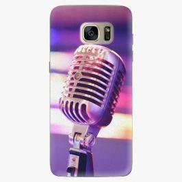 Plastový kryt iSaprio - Vintage Microphone - Samsung Galaxy S7 Edge