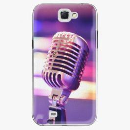 Plastový kryt iSaprio - Vintage Microphone - Samsung Galaxy Note 2