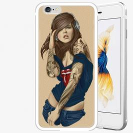 Plastový kryt iSaprio - Girl 03 - iPhone 6/6S - Silver Pouzdra, kryty a obaly na mobil Apple iPhone 6/6S ALU Silver