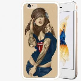 Plastový kryt iSaprio - Girl 03 - iPhone 6 Plus/6S Plus - Gold Pouzdra, kryty a obaly na mobil Apple iPhone 6 Plus/6S Plus ALU Gold