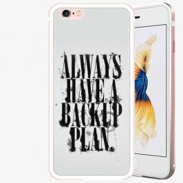 Plastový kryt iSaprio - Backup Plan - iPhone 6/6S - Rose Gold Pouzdra, kryty a obaly na mobil Apple iPhone 6/6S ALU Rose Gold
