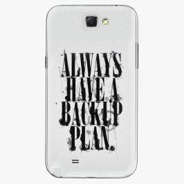 Plastový kryt iSaprio - Backup Plan - Samsung Galaxy Note 2 Pouzdra, kryty a obaly na mobil Samsung Galaxy Note 2